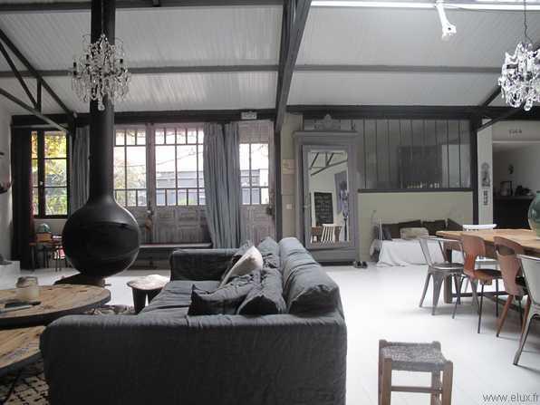 Loft avec vitrage atelier - Vitrage style atelier ...