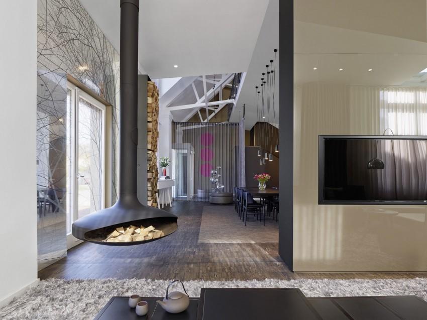loft cheminee suspendue. Black Bedroom Furniture Sets. Home Design Ideas