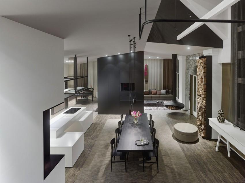 Loft moderne espace de vie moderne for Espace de vie construction