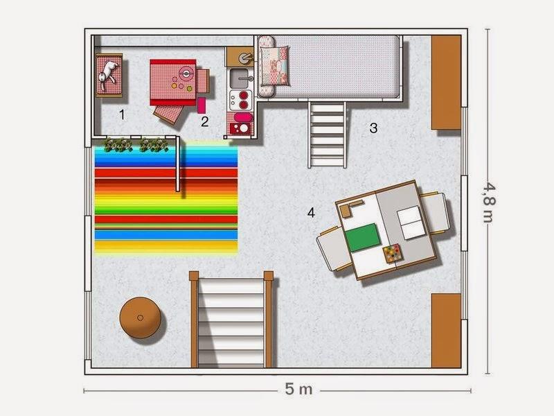 plan chambre cabane enfant