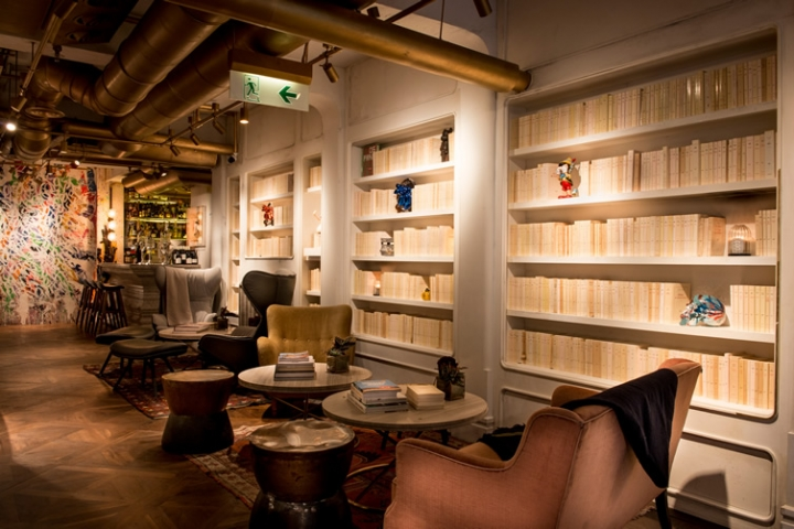 restaurant deco indus coin bibliotheque. Black Bedroom Furniture Sets. Home Design Ideas