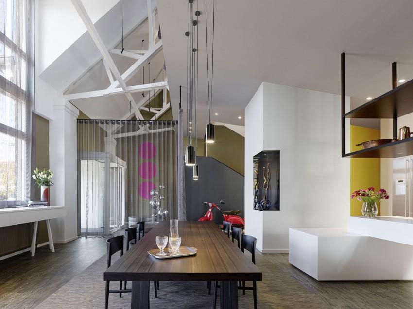 salle a manger loft suspension geante. Black Bedroom Furniture Sets. Home Design Ideas