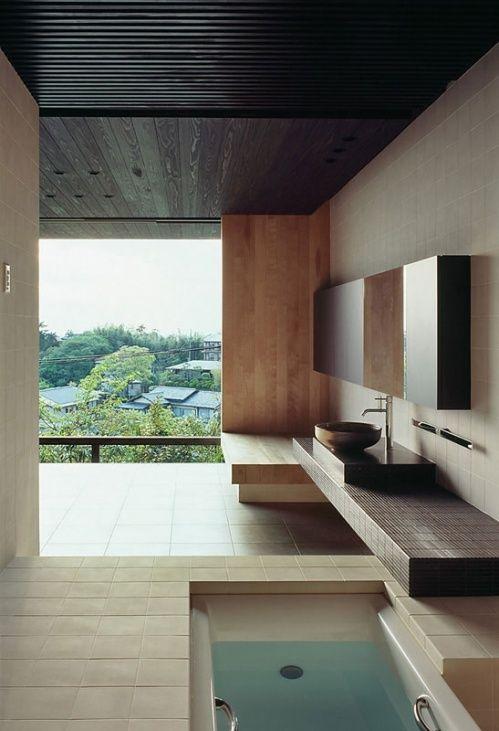 salles de bains avec vue
