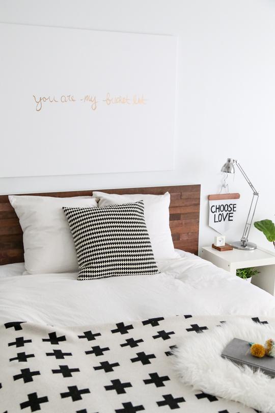 tete de lit bois chambre cosy. Black Bedroom Furniture Sets. Home Design Ideas