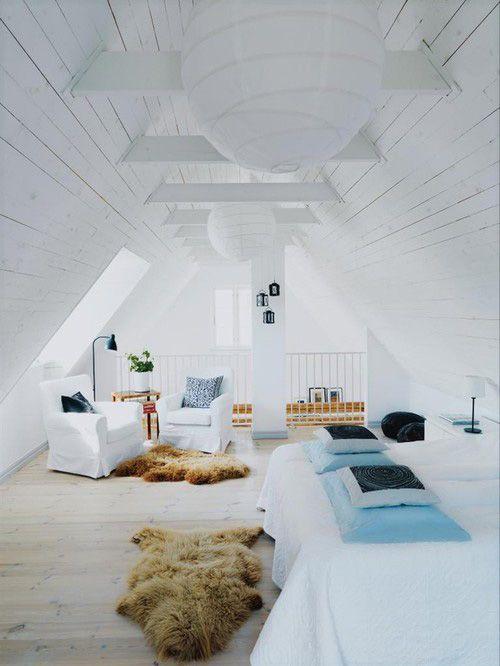 S lection de chambres sous combles for Amenagement grenier en chambre et salle de bain