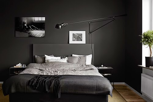 chambre noire epuree. Black Bedroom Furniture Sets. Home Design Ideas