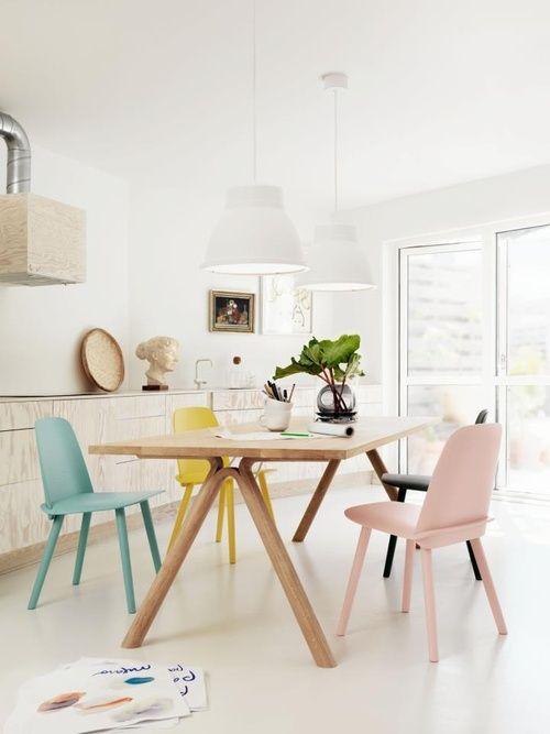 mixer les couleurs pastels et le style retro en d co. Black Bedroom Furniture Sets. Home Design Ideas