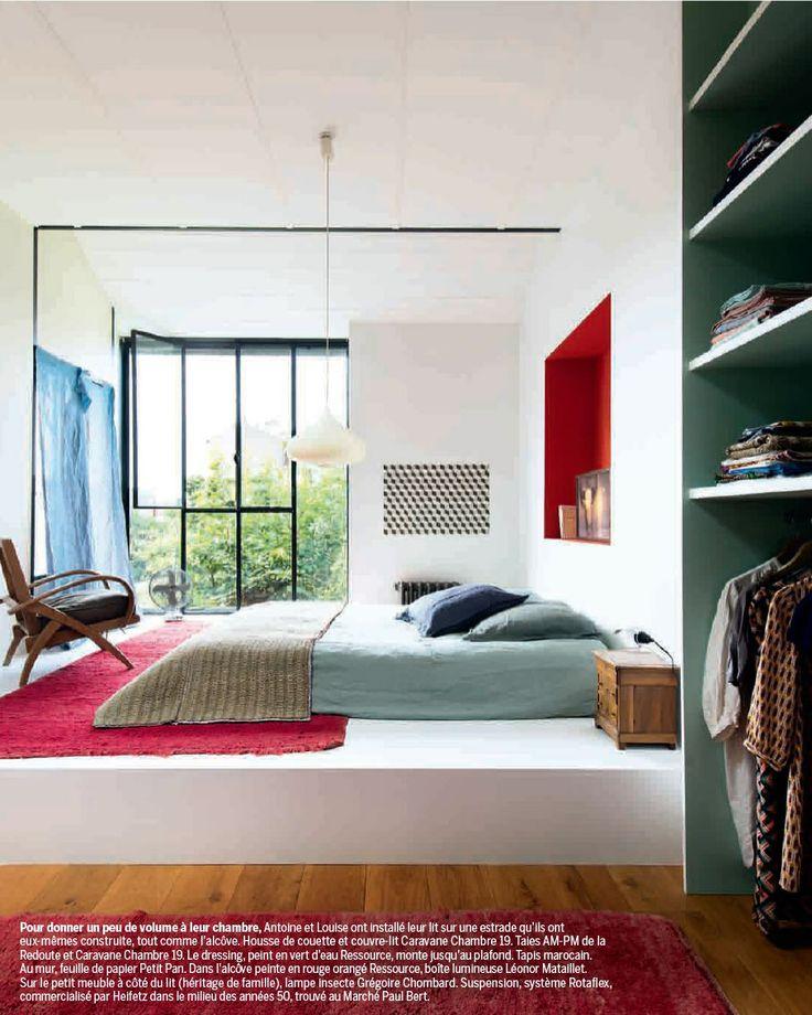 estrade chambre rangements. Black Bedroom Furniture Sets. Home Design Ideas