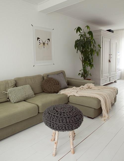la couleur vert kaki en d coration. Black Bedroom Furniture Sets. Home Design Ideas