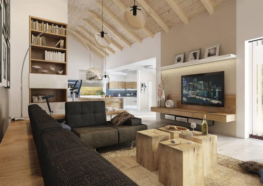 Projet de villa avec toit cath drale for Salon industriel cosy