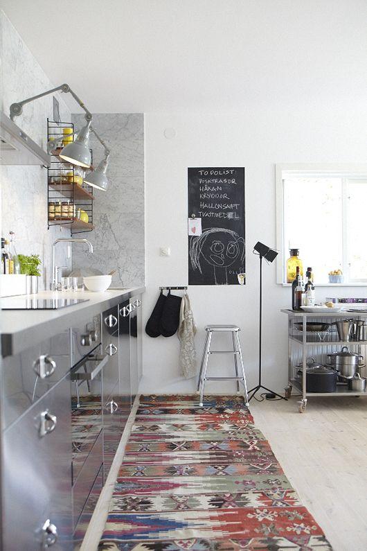 Tapis persan kilim color interieur design cuisine 2 for Interieur cuisine design