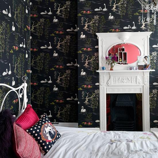 Chambre Fille Romantique Mur Noir