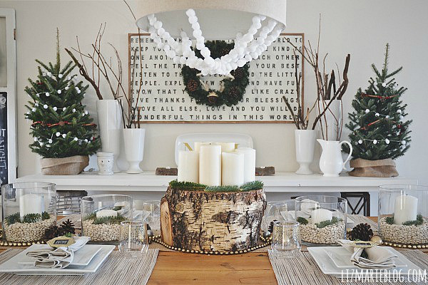 Deco table noel naturel for Idee decoration fenetre pour noel