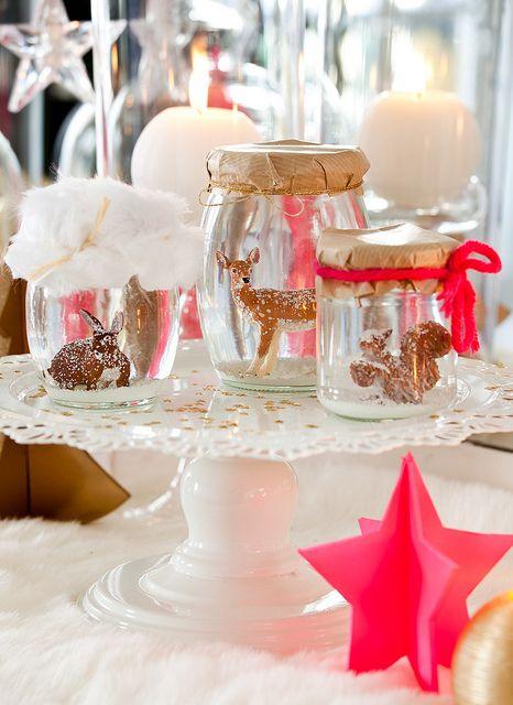 Inspiration decoration table noel traditionnelle rouge blanc 2 for Table de noel traditionnelle
