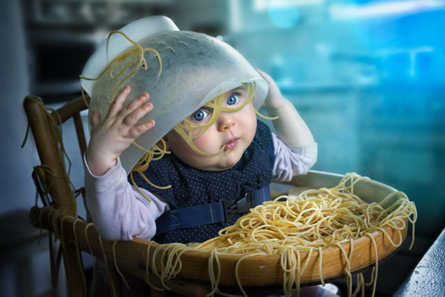 photos-photoshop-pere-enfant-spaghettis-fun
