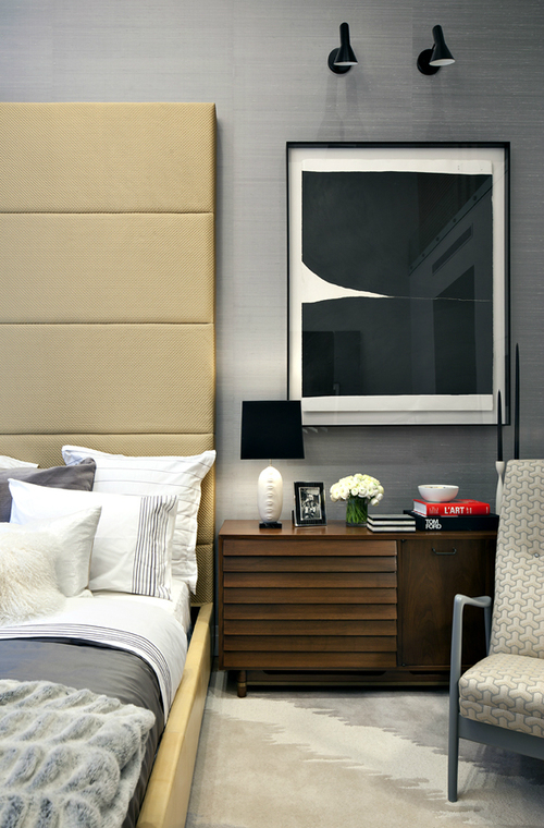 tete de lit decorative chambre contemporaine. Black Bedroom Furniture Sets. Home Design Ideas