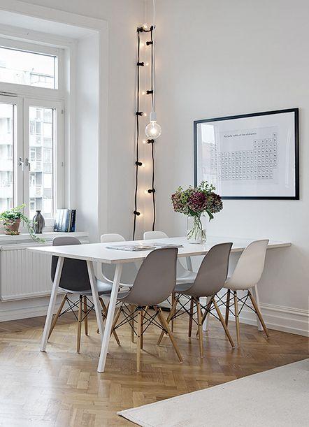 deco gris blanc salle manger design - Decoration Salle A Manger Gris Et Blanc