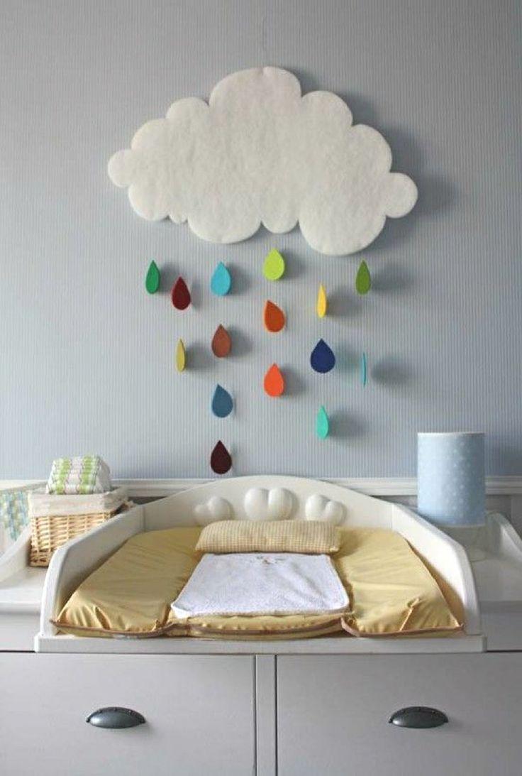 D co nuage dans une chambre d 39 enfant - Deco chambre d enfant ...