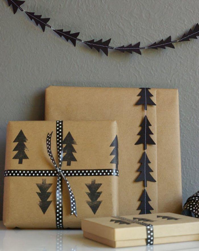 id es pour r aliser des emballages cadeaux originaux pour no l. Black Bedroom Furniture Sets. Home Design Ideas