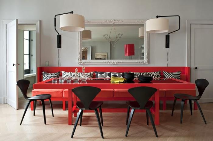 Touches de couleurs vives en d coration - Salle a manger noir et rouge ...
