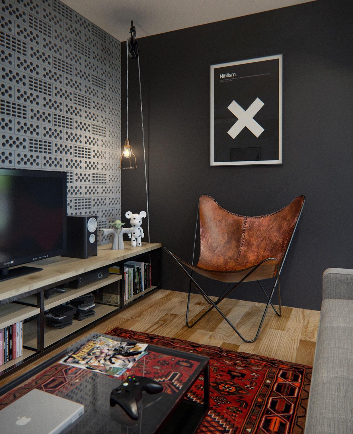 d coration urbaine pour un appartement de 70m2. Black Bedroom Furniture Sets. Home Design Ideas