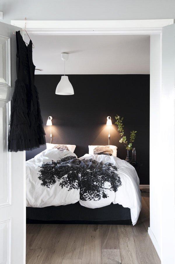 Chambre mur noir for Chambre mur rouge et noir