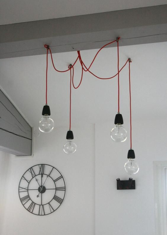 Luminaires originaux les suspensions ampoules for Ampoule suspension