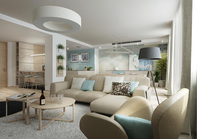 association de bois clair et bleu pastel en d coration. Black Bedroom Furniture Sets. Home Design Ideas
