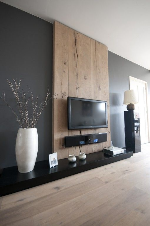 habillage mur tele en bois. Black Bedroom Furniture Sets. Home Design Ideas