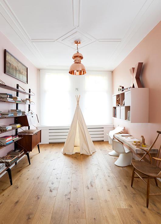 murs rose p le en d coration. Black Bedroom Furniture Sets. Home Design Ideas