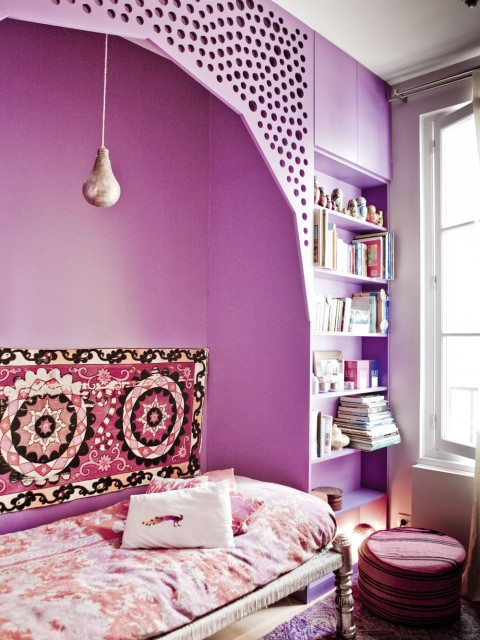 Deco design inspiration boheme chambre coloree - Inspiration deco chambre ...