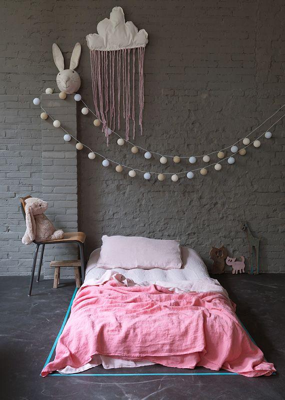 mur peint gris fonce chambre enfant. Black Bedroom Furniture Sets. Home Design Ideas