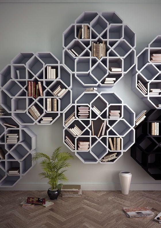 bibliotheque-geometrique-design-inspiration-mosaiques