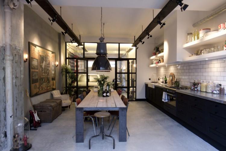 Beliebt Décoration d'une cuisine dans un style industriel TJ52