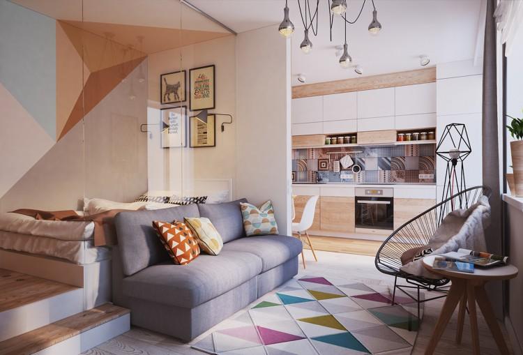 am nagement et d coration d 39 un appartement de 40m2. Black Bedroom Furniture Sets. Home Design Ideas