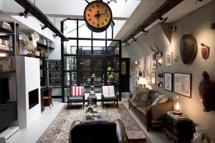 Loft style industriel avec une verriere interieure - Loft style industriel ...