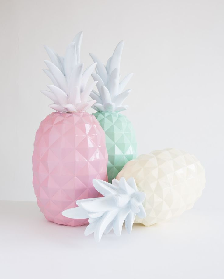 Deco design ananas for Pastel diy room decor
