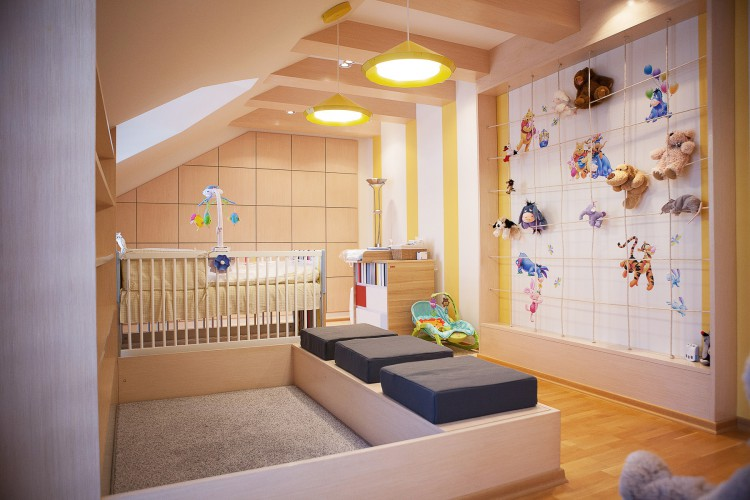 Projet d 39 am nagement pour une chambre de b b for Amenagement chambre bebe