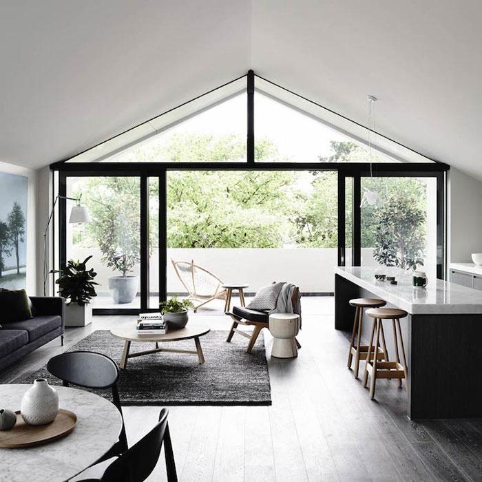 d co l gante en noir et blanc. Black Bedroom Furniture Sets. Home Design Ideas