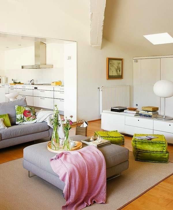 Déco d'un salon avec du mobilier blanc