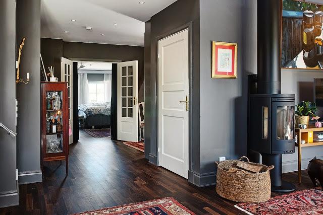 decoration appartement parquet bois fonce. Black Bedroom Furniture Sets. Home Design Ideas
