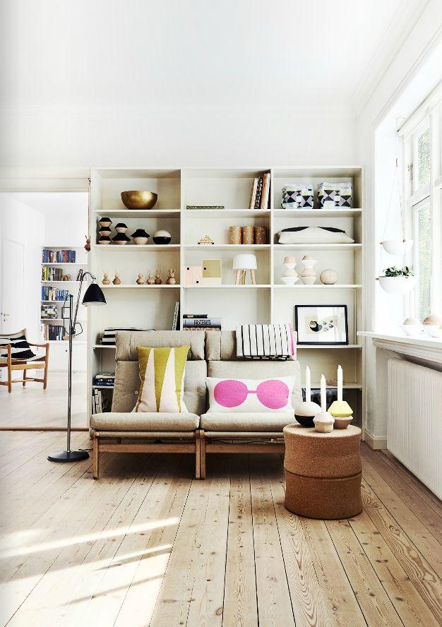 salon-inspiration-scadinave-parquet-bibliotheque-objet ...