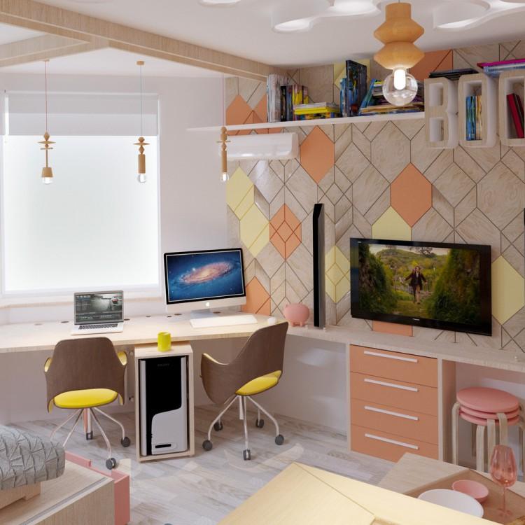 am nagement d 39 un bureau fonctionnel dans un style scandinave. Black Bedroom Furniture Sets. Home Design Ideas