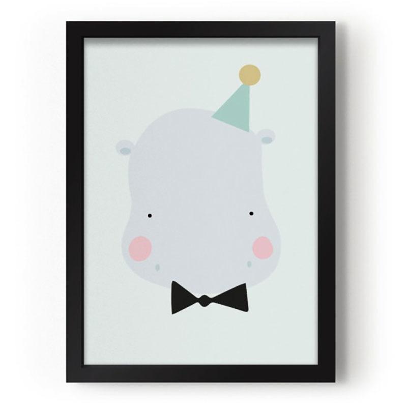 deco-vintage-pour-enfant-affiche-couleurs-pastel-animal-hippo