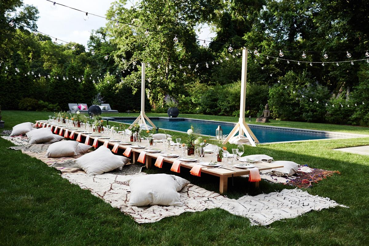 Idee pour pique nique elegant champetre piscine table for Basse goulaine piscine