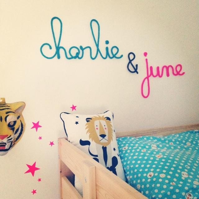 pr nom accrocher au mur pour chambre d 39 enfant. Black Bedroom Furniture Sets. Home Design Ideas