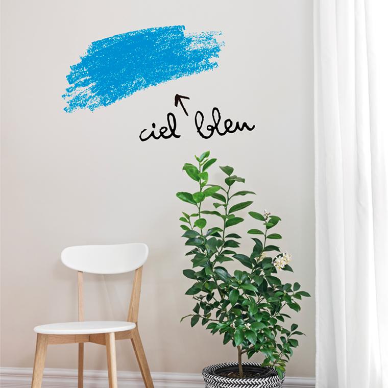 stickers-muraux-originaux-biblioteque-chaise-design-inspiration-eames-scandinave-ciel-bleu-deco-design
