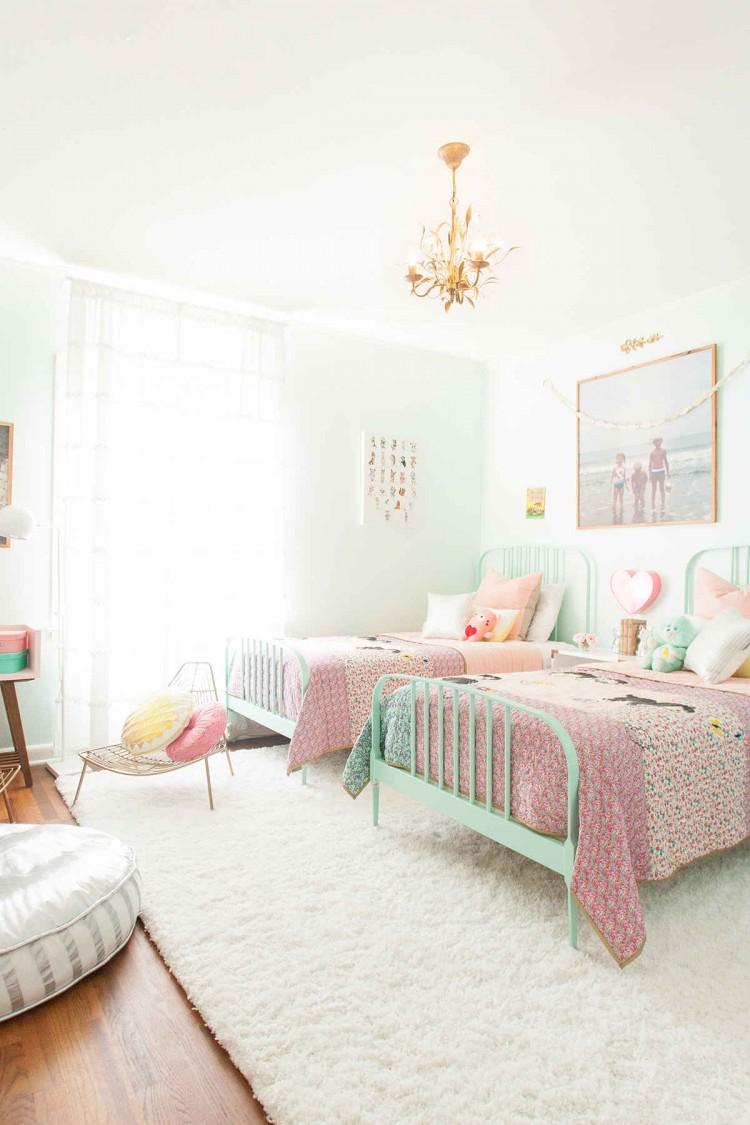 Chambre pour deux enfants d co vintage for Deco chambre deux enfants
