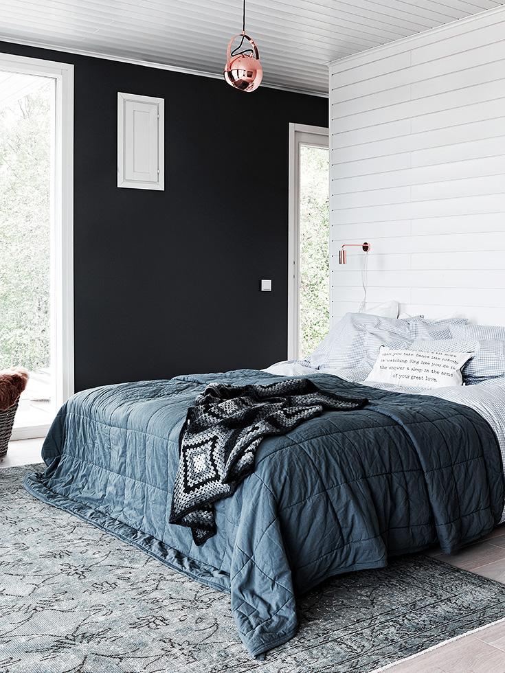 D coration contemporaine en noir et blanc for Deco chambre noir et blanc