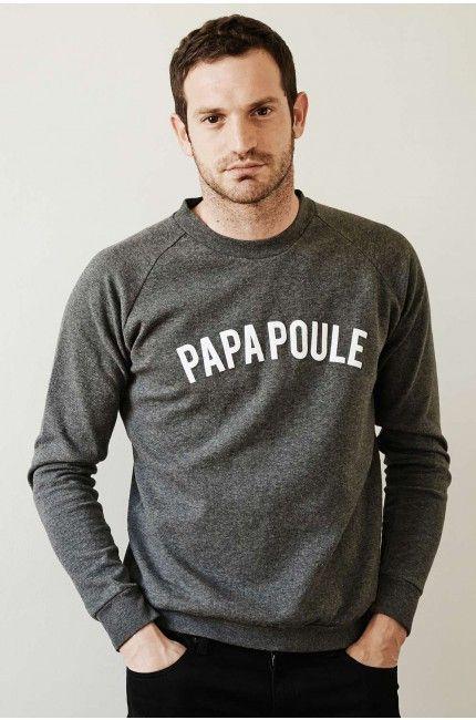 sweat-shirt-homme-message-papa-poule-gris-emoi